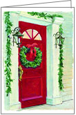 C8707- Wreath Christmas Cards