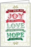 C9702 - Joy, Love, Hope Christmas Cards