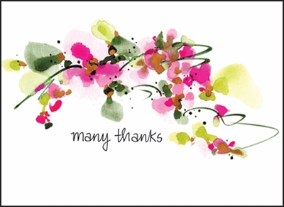 FBL02 - Many Thanks Note Card
