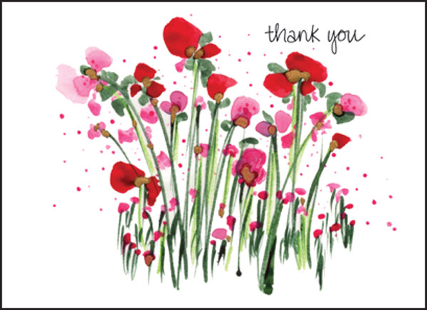 fbl05 flowers thank you notes