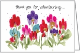 FBL08V - Floral Volunteer Note Cards