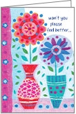 GW5506 - Two Flowers Get Well Cards