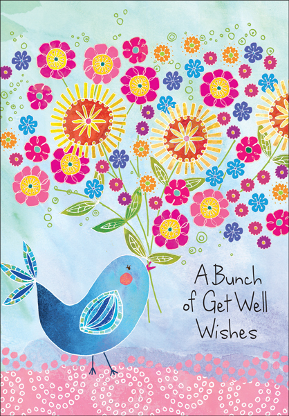get well greeting cards printed on recycled paper