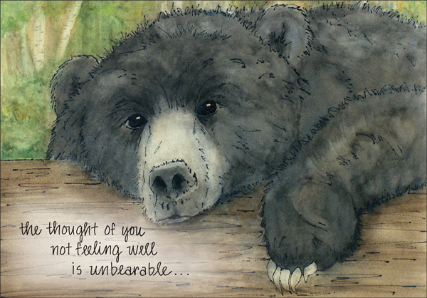 masculine get well card with bear it takes two inc