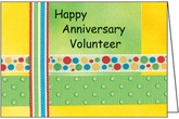 HBL37V - Ribbon Volunteer Anniversary Cards