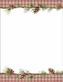MCLS05 - Pine Cone Holiday Paper