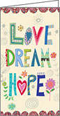 NPP236 - Love, Dream, Hope Pocket Planners