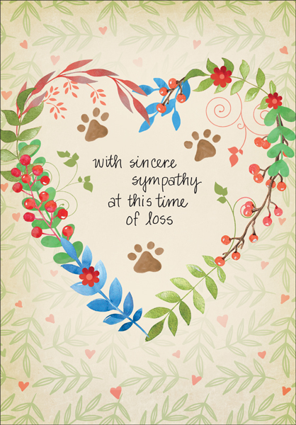 p1413 animal loss sympathy cards - Sympathy Cards
