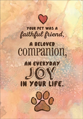 P9483 - Loss of Pet Sympathy Cards