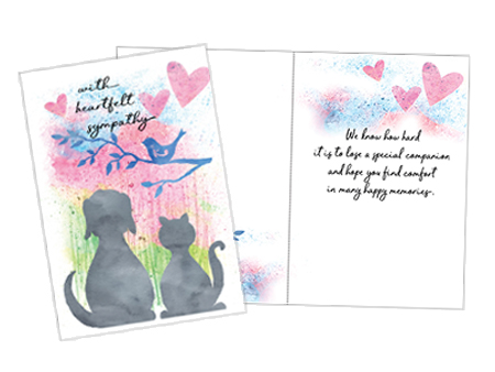 animal and pet sympathy cards for veterinarians pet gifts and