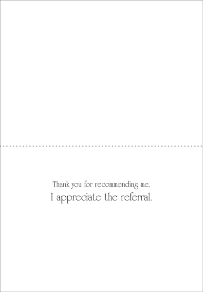 Professional business referral thank you cards it takes two inc qr54 real estate referral thank you cards expocarfo Gallery