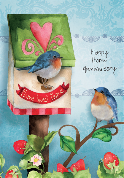 re1406 new home anniversary cards