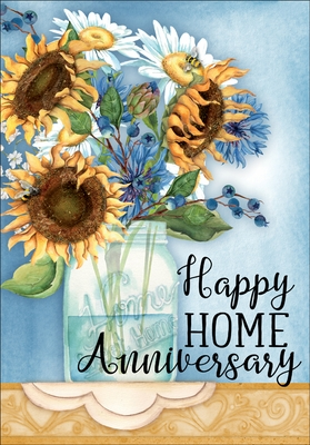 RE1414 - Anniversary in New Home Greeting Cards