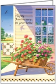 RER402 - Geranium Home Anniversary Greeting Cards