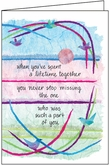 S210H - One-Year Anniversary of Death Sympathy Card