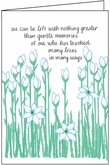 S216 - Tall White Flower Sympathy Cards