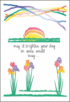 S232 - Sunshine and Rainbow Encouragement Card