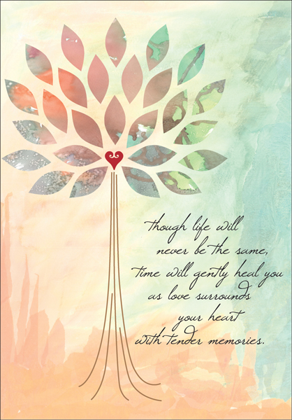 Beautiful Sympathy Card for Anniversary of a Death | it ...