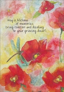 SG217 - Poppies Sympathy Cards