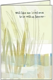 SU208H - Love Surrounds Anniversary of Death Greeting Cards