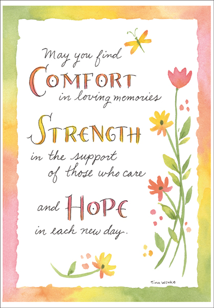 su215 comfort strength and hope sympathy cards - Sympathy Cards