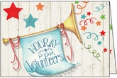 T1307V - Trumpet Cheer Volunteer Thank You Card