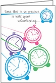 T309V - Time is Precious Volunteer Thank You Cards