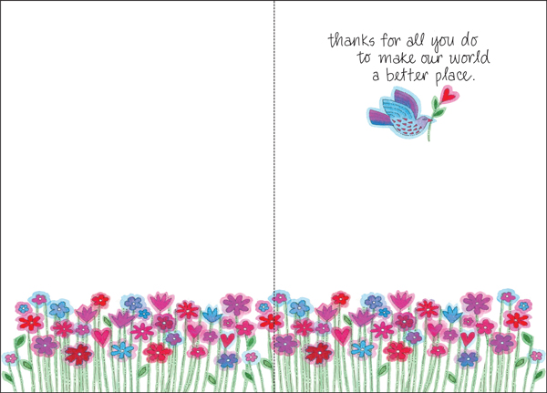 Beautiful Thank You Volunteer Cards | It Takes Two, Incwork Thank