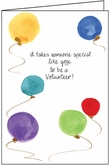 TF302V - Balloons Thank You Cards for Volunteers