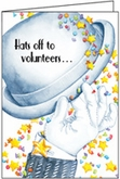 TT301V - Hats Off Volunteer Thank You Cards