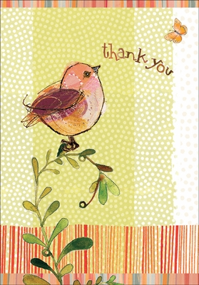 TU304V - Robin Thank You Card for Volunteers