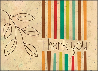 WBL03V - Colorful Volunteer Thank You Notes