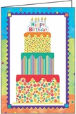 WBL13V - Birthday Cake Birthday Volunteer Note Cards