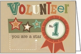 WBL15V - Star Volunteer Note Cards