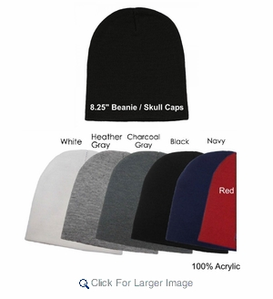 Assorted Beanie Skullcap Hats (36pc pack) - Only $2.00/pc. - A-GJK-0SKL - Click to enlarge