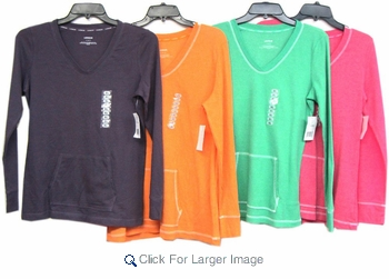 Assorted Women's Light Thermal Tops - Lizwear (Liz Claiborne) - Click to enlarge