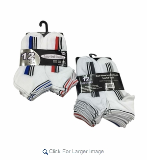 Men's Athletic Socks - Assorted - Sizes 10-13 - Click to enlarge