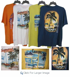 Caribbean Joe Men's Island Designs T-Shirts - Assorted - Click to enlarge