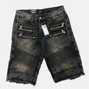 Denim Moto Biker Fray Bottom Shorts $18.50/pc