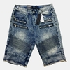 Denim Moto Biker Fray Bottom Shorts