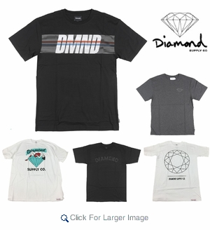 Diamond Supply Wholesale T-shirts - $12.50/pc - M-DIA-1000-ASST - Click to enlarge