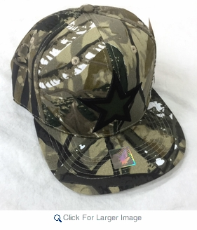 Flag Embroidered & Printed Snapback Hats - $5.00 - Camo - Click to enlarge