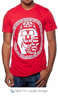 Last Kings Red & White Skull Tee - Click to enlarge
