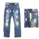 Men's ADKT Fashion Rip Repair Jeans - $18.50/pc.