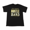 Men's Embossed Gold Tees - Hustle Hard