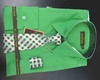 Men's L/S Dress Shirts W/ Tie & Handkerchief - Irish Green  (Ties Vary)