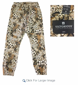 Men's Premium Printed Jogger Pants. Hawaiian Flower Print - M-VCT-2845 - $12.50 - Click to enlarge