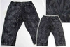 Men's Printed Jogger Capris. Magic Leaf Print. Black Wash - M-VCT-3378-BK - $12.50