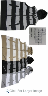 Men's Striped Sleeveless Hoodies - Lightweight - Only $9.50/pc. - M-RGL-1J15 - Click to enlarge