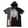 Short Sleeve Heavyweight Hooded Shirt - Trust None - Black